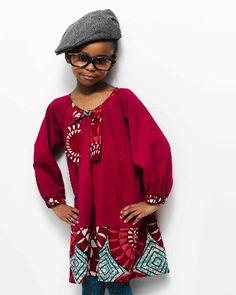 Cute dress for my 7 yr old! African Attire, African Wear, African Dress, African Style, African Babies, African Children, Fashion Kids, Girl Fashion, African Inspired Fashion