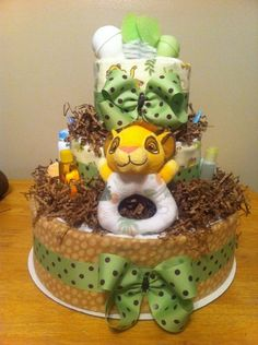 lion king diaper cake
