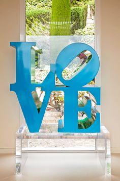 #Love #RobertIndiana #TiEffeEsse #InteriorDesign | #AdItalia June 2014 | Photo by #GiorgioBaroni