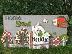 """Canevas """"Home sweet home"""" + tuto"""
