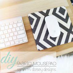 sarah m. dorsey designs: DIY in 1 hour or Less   Fabric Mousepad