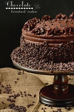 Yellow Cake with Raspberry Filling and Dark Chocolate Frosting