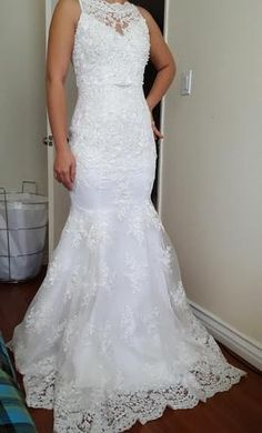 David's Bridal Modern Dress: buy this dress for a fraction of the salon price on PreOwnedWeddingDresses.com
