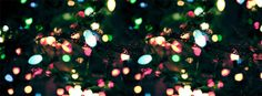 Colorful Christmas Light Facebook Cover Photo