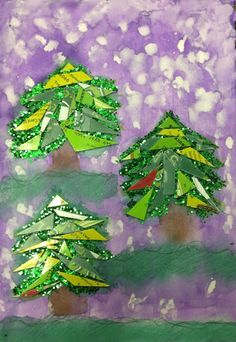 Consentration, plants (Christmas trees) 5.5in. X 8.5in.
