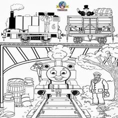 Thomas And Friends The Train Coloring Pages Free Printable