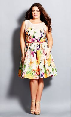 7def25bd8e8 City Chic - GARDEN PARTY DRESS - Women s Plus Size Fashion - City Chic Your  Leading