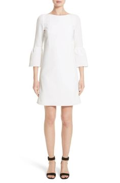 Flounce Cuff Shift Dress, White, Bell Sleeve, Nordstrom Anniversary Sale
