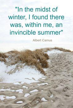 Winter Beach Summer Quote by Albert Camus