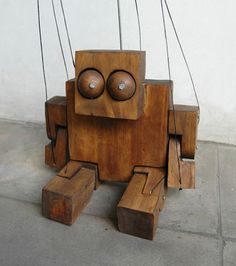 wooden puppet by juan pablo cambariere.
