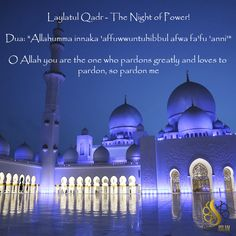 "Laylatul Qadr - The Night of Power! Dua: ""Allahumma innaka 'affuwwuntuhibbul afwa fa'fu 'anni'"" O Allah you are the one who pardons greatly and loves to pardon, so pardon me Finding The Right Job, Arabic Phrases, Islam Religion, Busy Life, Holy Quran, Hadith, Pilgrimage, People Around The World, Peace Of Mind"