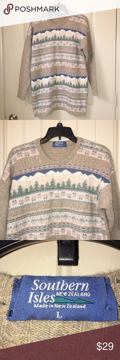 Southern Isles New Zealand Fair Isle Sweater L This is a Southern Isles New Zealand Fair Isle Sweater Sz L, so soft! Gently used condition! I ship fast! Happy poshing friends! southern isles Sweaters Crew & Scoop Necks