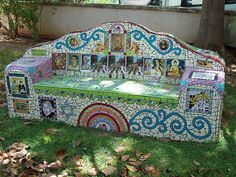 Mosaic Bench...Wow!    flickr.com