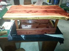 Live Edge Coffee Table with Bottom Tray by BarroneContracting, $400.00
