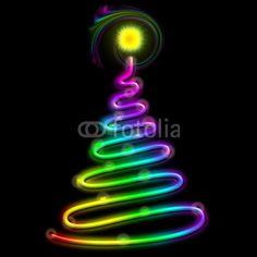 #Christmas #Tree #Psychedelic #Neon #Light © bluedarkat #46672008     http://us.fotolia.com/id/46672008/partner/200929677
