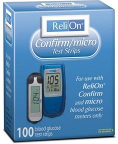 Blood Glucose Test Strips 100 Count Confirm/micro Diabetic Accurate Results #ReliOn