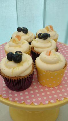 Blueberry lemon orange cupcakes