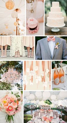 Wedding Color Combinations | First up is the romantic girl's dream: Blush and Peach