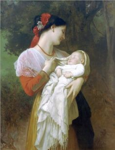 Maternal Admiration - William-Adolphe Bouguereau