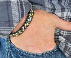 Boho Leather Wrap Bracelet Unisex Wrap by HighestTideJewelry