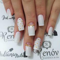 Hair And Nails, My Nails, Beautiful Nail Art, Nail Trends, Nail Arts, Manicure And Pedicure, Wedding Nails, Cute Nails, Nail Colors
