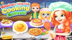 Kitchen Mania Cooking School - Fun Cooking Games For Kids Cooking Games For Kids, Kitchen Games, More Games, Cooking School, School Fun, Make It Yourself, Birthday, Food, Low Calorie Recipes