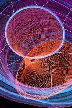 coloured fishing nets in air by Janet Echelman via Designsoak