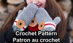 Pattern only! Rustik kit crochet pattern by Akroche Tatuk (english and french). Crochet Chain, Crochet Mittens, Crochet Slippers, Front Post Double Crochet, Half Double Crochet, Foundation Single Crochet, Patron Crochet, Work Socks, La Red