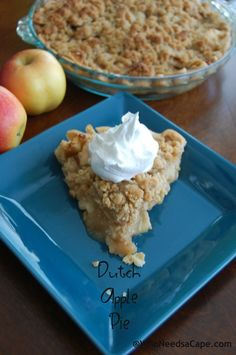 So, in Michigan (where I am from) everyone makes this. Every family has its own version, but Dutch Apple is pretty popular. I didn't realize until I made one of these in NJ (where I live now) that not everyone has their own Dutch Apple Recipe! So here I am sharing my family's version! Hope … … Continue reading →