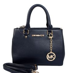 Michael Kors Sutton Medium Dark Blue Satchels only $71.99