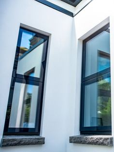 The Innovare range is unique in its clean lines and simple modern elegance. The glass pane sails over the external face of the frame, creating a window with edge to edge glass. The glass is bonded directly to the frame unit meaning there's virtually no exposed metal or fibreglass. Combined with aluminium natural corrosion-resistant properties this creates an extremely durable frame. For more information on this new and innovative window system, visit the Sieger website. Aluminium Windows, Roof Light, Art And Technology, Traditional, Mirror, Modern, House, Clean Lines, Home Decor