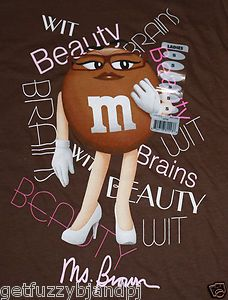 """BROWN CANDY CHARACTER TOY 9/"""" TALL 2014 MARS INC ADVERTISING M/&M/'S PLUSH  MS"""
