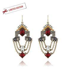 Deco Luxe Chandelier Earrings Www.chloeandisabel.com/boutique/m=?Moniquejohnson  The Great Gatsby, Wedding, Earrings, Red, Vintage, Love, Art Deco