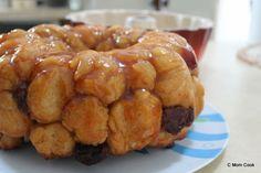 Roasted Banana Caramel Sourdough Monkey Bread