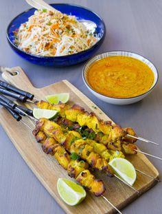 Thai Recipes, Healthy Recipes, Healthy Food, Zeina, Chicken Satay, Vegetable Salad, Summer Recipes, Food Inspiration, Food Porn