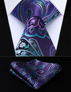 SALE New Blue Paisley Mens Chinese Silk Tie UK Seller Wedding Father Son Gift