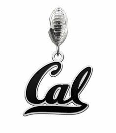 California Berkeley Golden Bears Football Dangle Charm High Quality California Berkeley Golden Bears Football Charm and Jewelry #cal #california #berkeley #jewelry #college #university #collegejewelry #charm #football