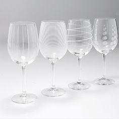 Mikasa Cheers White Wine Glass-Set of 4 @Anna Marie Sanders.com