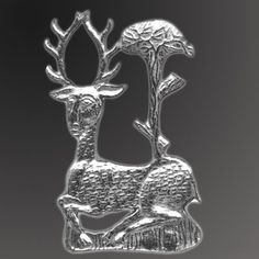 Hart and Tree Medieval Badge