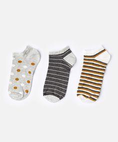 Lot de 3 paires de chaussettes à pois