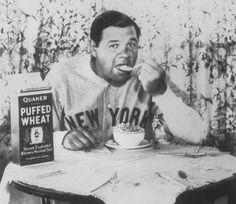 Babe, 1927 Quaker Puffed Wheat ad