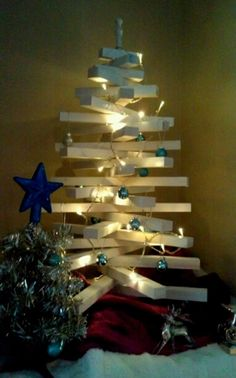 modern wooden tree could be great for outside