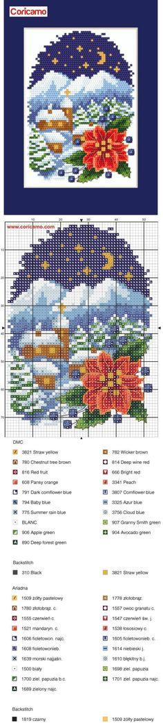 #Coricamo - #Crossstitch, #freecharts, #Haftkrzyżykowy, #výšivka, #Kreuzstich, #BożeNarodzenie, #Weihnachten, #Vánoce, #Christmas. #Freepatterns,: