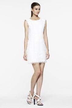 <3 white shift dresses
