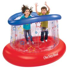 Kids Bounce-A-Round Bouncer with a rebound system lymphatic glands are clear, no illness