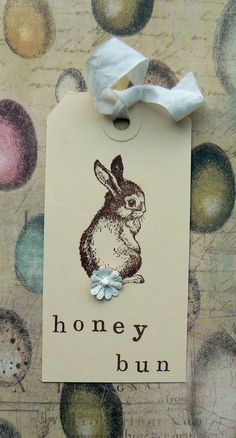 Cute easter tag but really love the egg-themed wrapping paper.