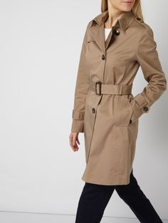 Jake*s Collection Trenchcoat mit Taillengürtel Sand - 1