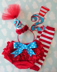 The Ultimate Cat In The Hat Party SET by alphabulous on Etsy, $40.00