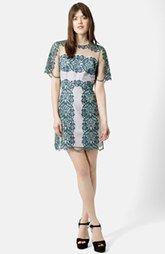 Topshop Contrast Lace Sheath Dress