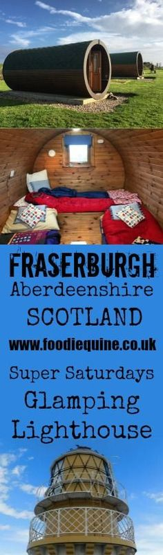 www.foodiequine.co.uk Sampling the best of Buchan at Fraserburgh Super Saturdays, sleeping in a Hobbit House at Down on the Farm Glamping in Rosehearty plus a visit to Kinnaird Head Lighthouse. Aberdeenshire, Scotland